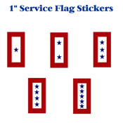 "Service Flag 1"" Envelope Stickers"