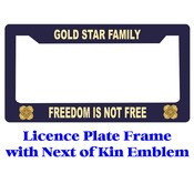 Next of  Kin Gold Star Licence Plate Frame