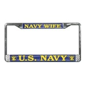 US Navy Wife License Plate Frame (Limited Availability)