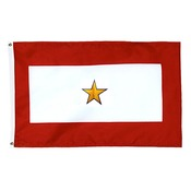 "30"" X 58"" Flagpole Gold Star Service Flag MADE IN THE USA"
