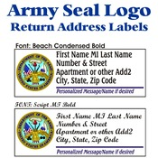 Army Seal Stock Address Labels