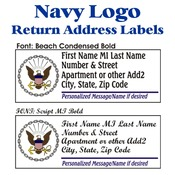 Navy Logo Stock Address Labels