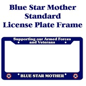 Blue Star Mother Licence Plate Frame