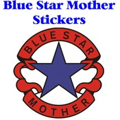 Blue Star Mother Logo Stickers