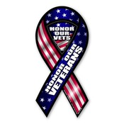 "Honor our Veterans 8"" Ribbon Magnet"