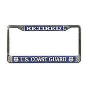 US Coast Guard Retired License Plate Frame (Limited Availability)