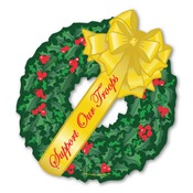 Support Our Troops Wreath Magnet