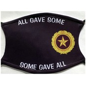 Gold Star Pin Logo face Covering W/Some Gave All Text