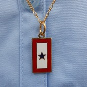 "Service Flag Charm with 18"" Chain"