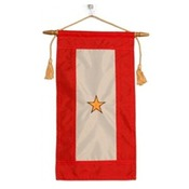 Embroidered Nylon Gold Star Service Flag MADE IN THE USA