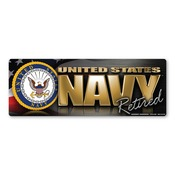Navy Retired Chrome Bumper Strip Magnet