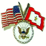 USA/SF Gold Star pin with Navy logo