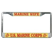 Marine Wife License Plate Frame (Limited Availability)