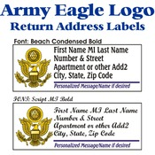 Army Eagle Stock Address Labels