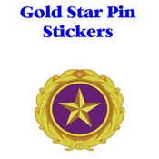 Gold Star Pin Sticker