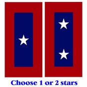 "Veterans Static Cling Decal 3"" X 6"" 1 or 2 stars"