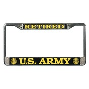 US Army Retired License Plate Frame